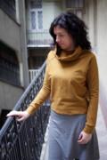 pulóver - mustár (hosszabb fazon)