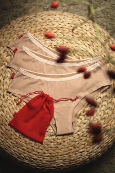 hip-hip easy menstruációs bugyi a könnyebb napokra (3db-os csomag) - beige