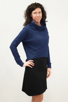 pulóver - éjkék