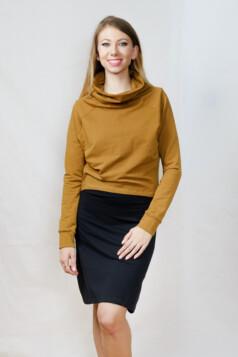 pulóver - mustár