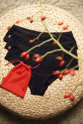 hip-hip easy menstruációs bugyi a könnyebb napokra (3db-os csomag)