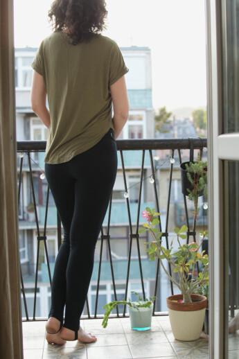 hip-hip KISMAMA leggings - fekete