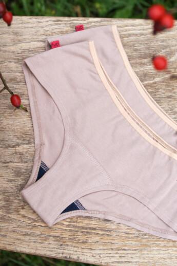 hip-hip strong beige menstruációs bugyi