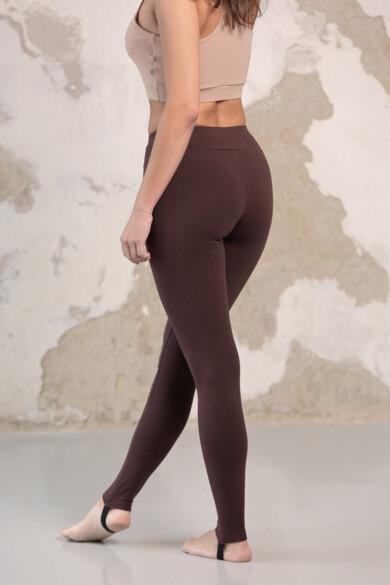 hip-hip talpas leggings - csokoládébarna