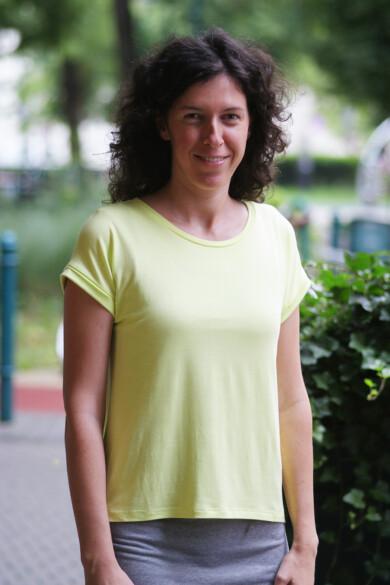 póló - neonsárga - (L-es méret)
