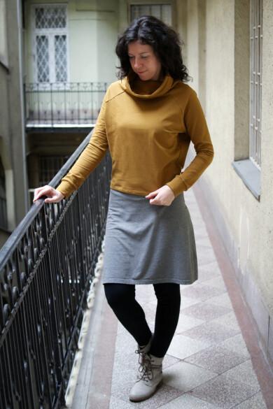 pulóver - mustár - Utolsó darab (M-es méret)